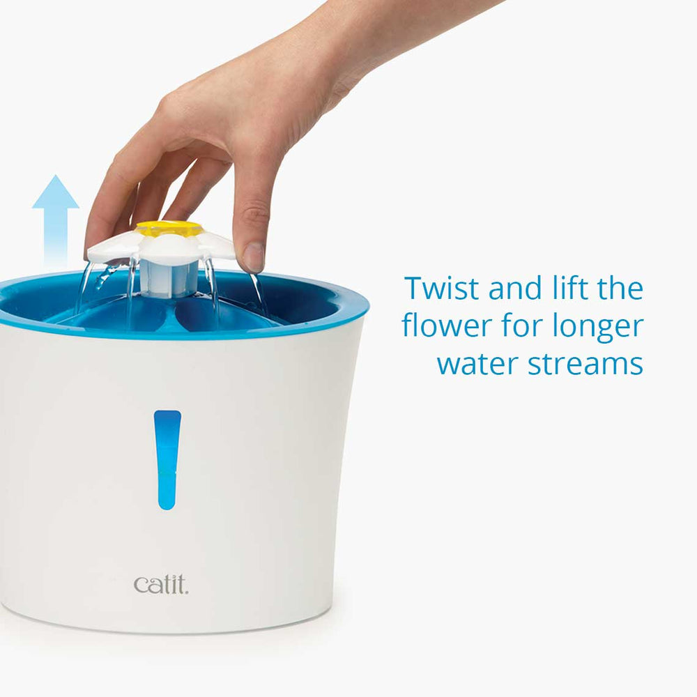 Catit 2.0 Flower Water Fountain 3ltr - with LED Light / Indicator