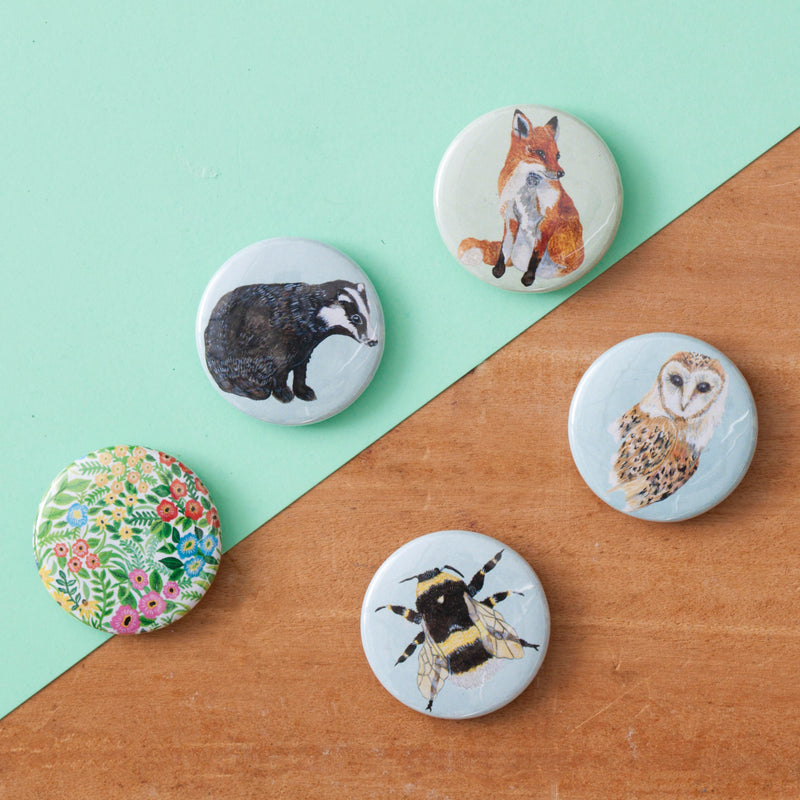 Woodland Animal Fridge Magnet Set - Pack of 5
