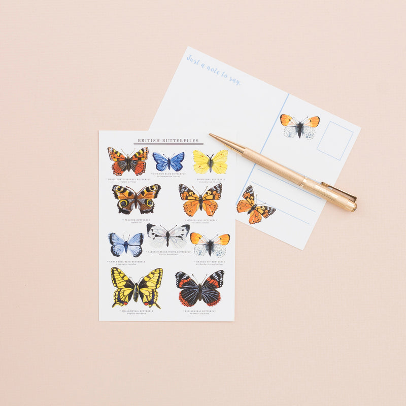 British Butterflies A6 Postcard
