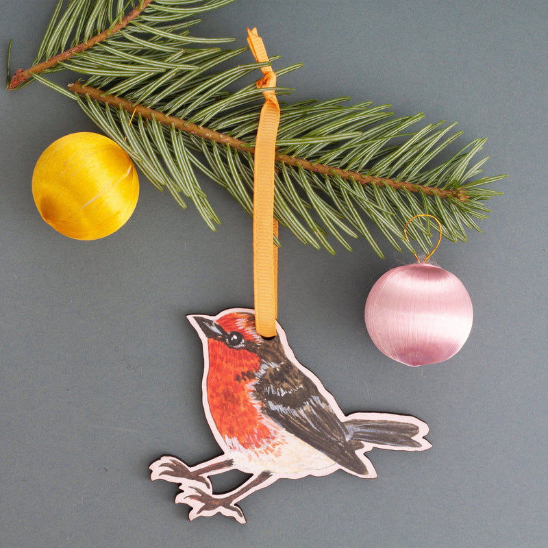 Robin Lasercut Wooden Christmas Decoration