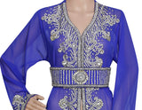 SILVER HAND EMBROIDERED JACKET SEQUINS CARDIGAN ABAYA KURTI
