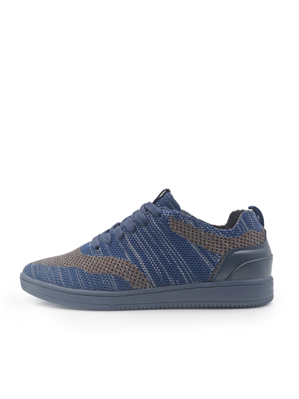 Larrie Navy Light Knitted Sneakers
