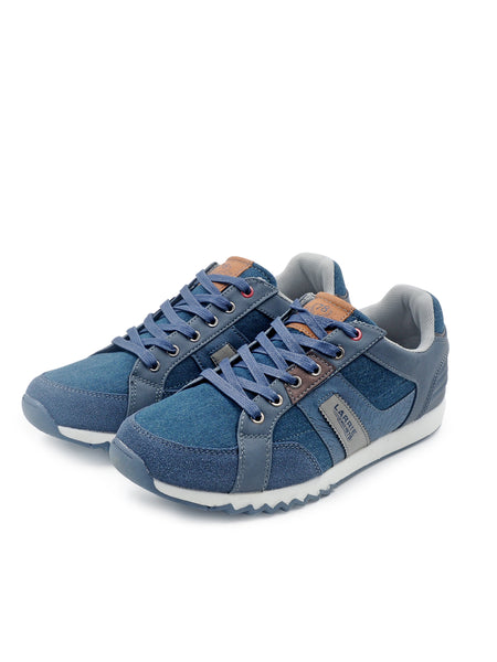 Larrie Navy Canvas Sneakers