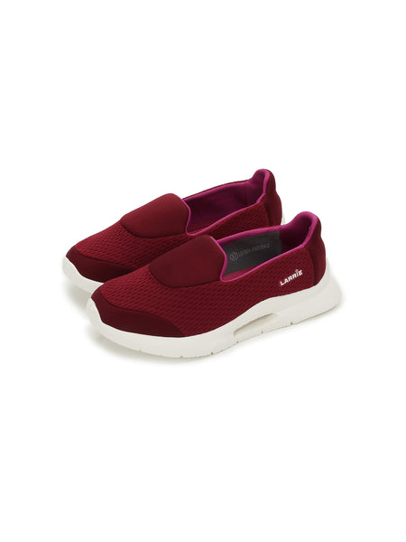 Larrie Red Lightweight Slip-On Casual Sporty Sneakers