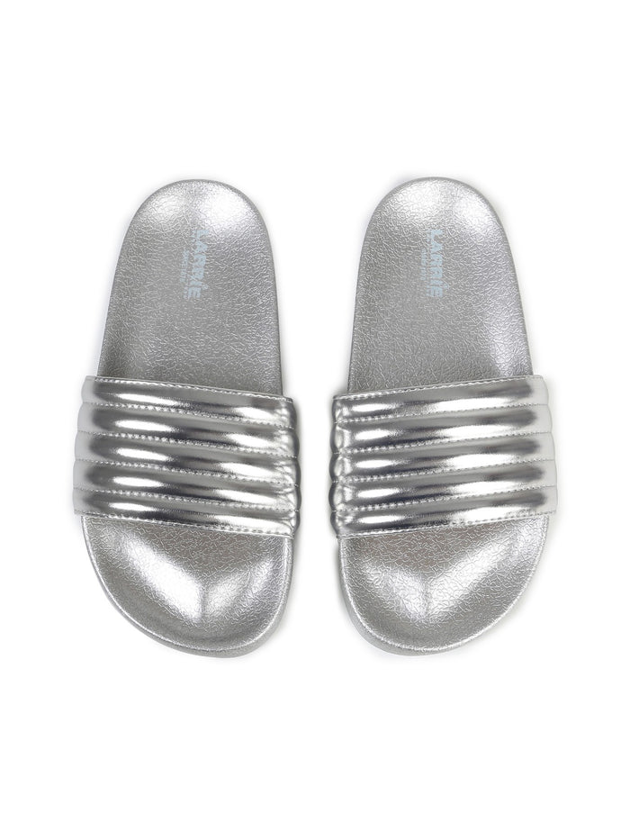 Larrie Silver Super Sporty Comfy Sandals