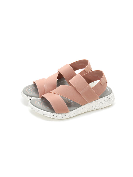 Larrie Pink Elastically Strap Lifestyle Casual Sandals