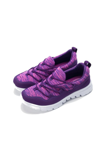 Larrie Purple Stretchable Basic Sporty Sneakers