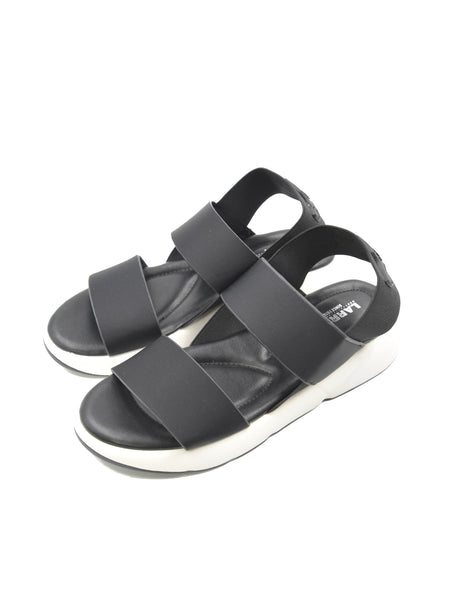 Larrie Black Stylist Elastically Strap Comfortable Sandals