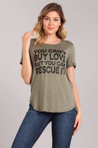 Rescue Love Graphic Tee - Multiple Colors Available