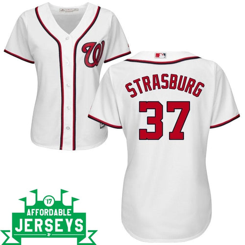 Stephen Strasburg Home Women's Cool Base Player Jersey