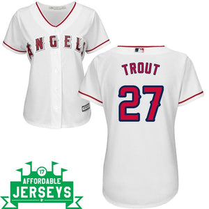 Mike Trout Home Women's Cool Base Player Jersey