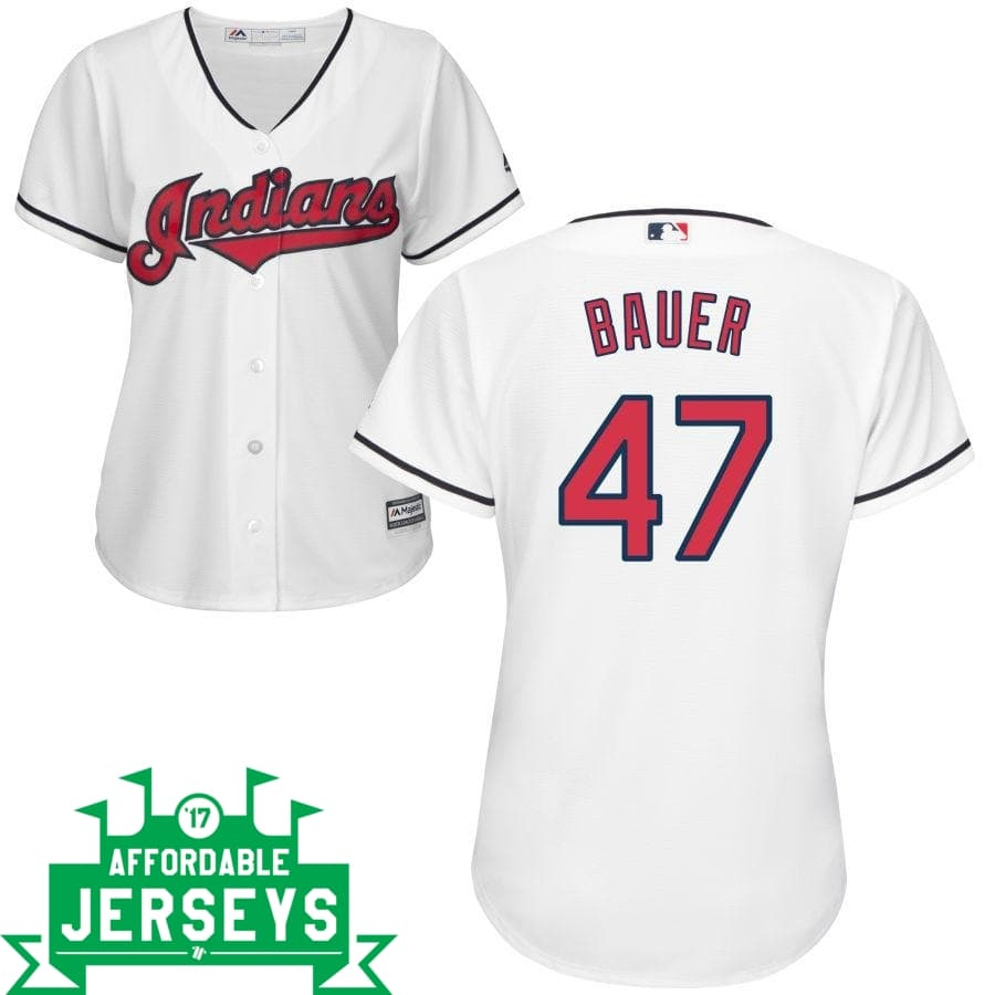 Trevor Bauer Home Women's Cool Base Player Jersey