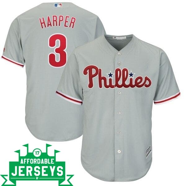 Bryce Harper Road Cool Base Player Jersey