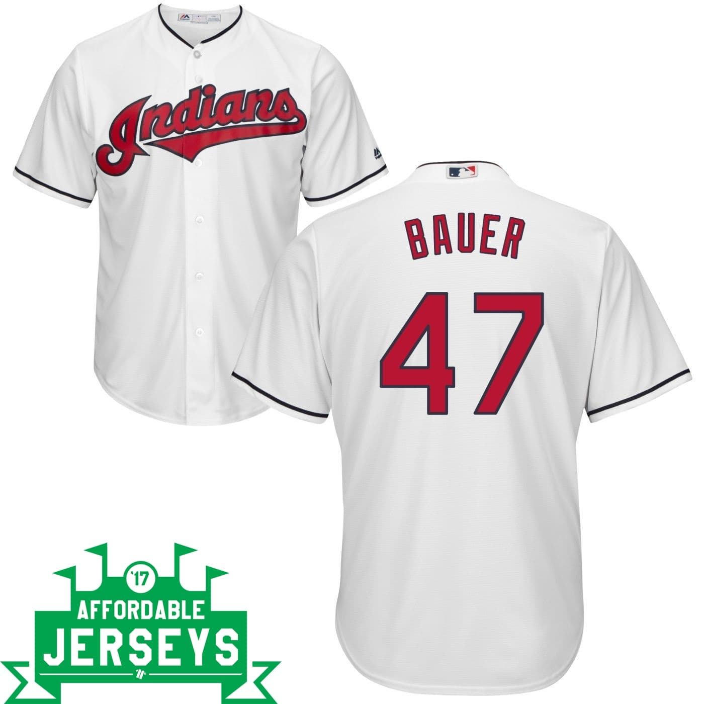 Trevor Bauer Home Cool Base Player Jersey