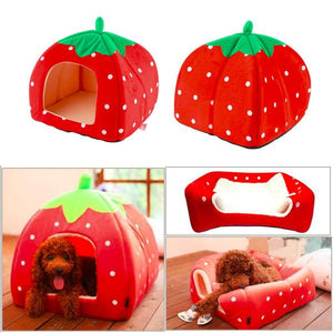 Strawberry House Pet Bed