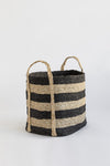 J'Jute Andaman Medium Jute Basket Striped