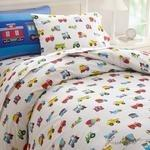 Olive Kids Trains, Planes, Trucks Twin Duvet Cover-Fussbudget.com