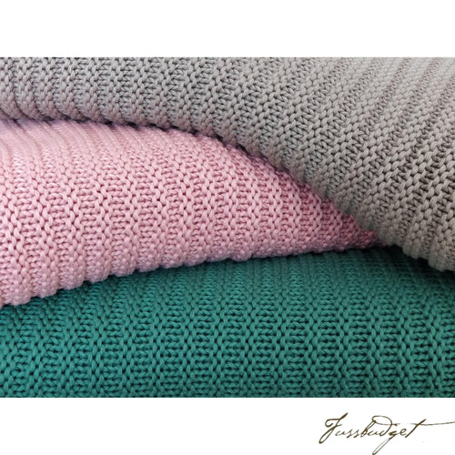 Cotton throw blanket - Suave Collection - Soft Stone-Fussbudget.com