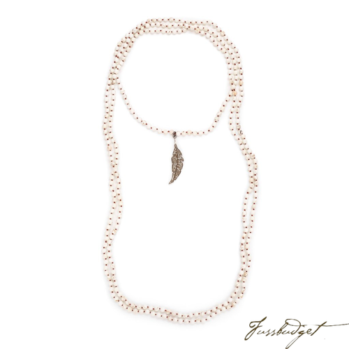 STELLA WRAP| PAVE DIAMOND FEATHER-Fussbudget.com