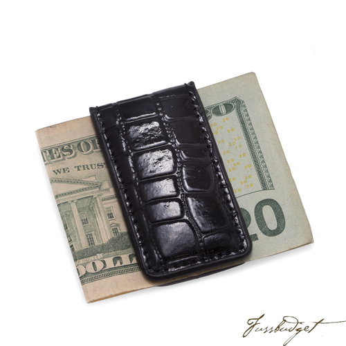 Leather Magnetic Money Clip.-Fussbudget.com