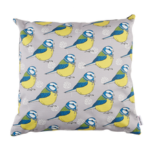 Load image into Gallery viewer, Little Blue Tit Cushion