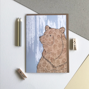 Stately Bear Illustrated Print