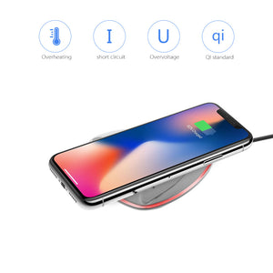 Mini Qi Wireless Charger Charging Pad With Light Indicator