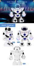Dancing Robot Kids Baby Toy With Music and Flashing Light White