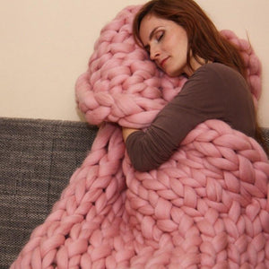 Large Thick Chunky Knit Blanket