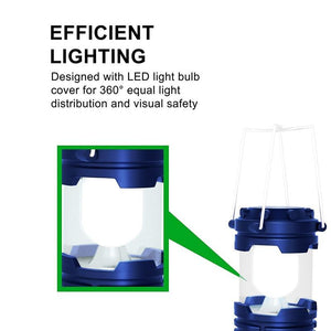 Camping Led Lantern Lights Solar Lamp Rechargeable Battery Operated