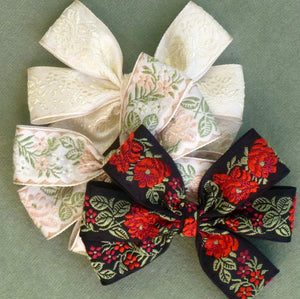 Vintage Roses & Florals Woven Ribbon