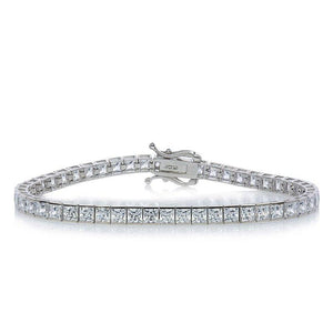 13.25ct. eq. Princess Tennis Bracelet