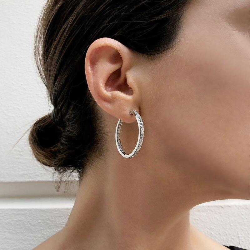 Doublesided Hoop Earrings