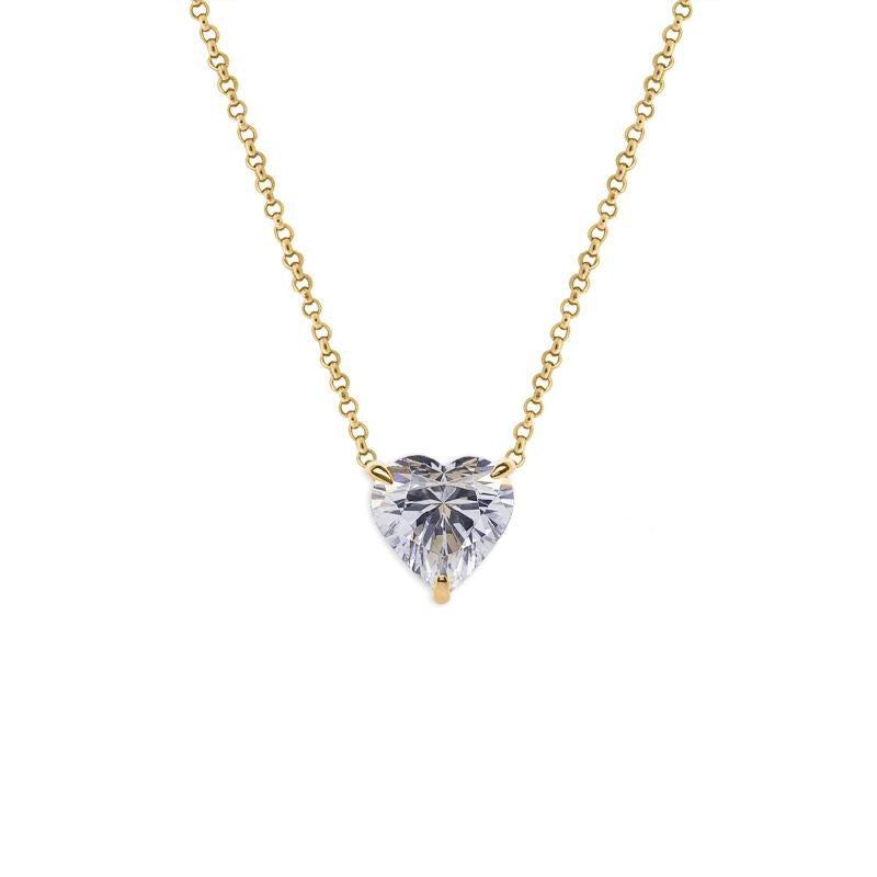 Heart Pendant Yellow Gold