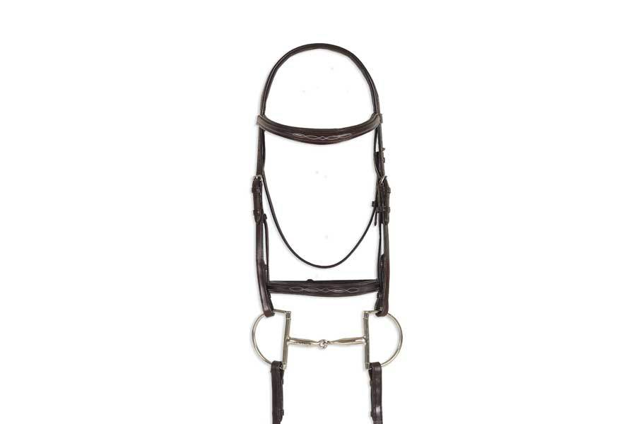 Ovation Breed Fancy Stitched Raised Padded Bridle - Quarter Horse