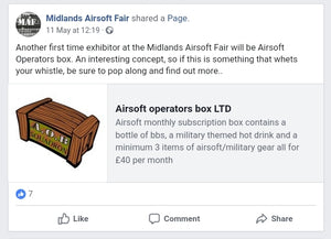 Airsoft Operators Box Ltd to attend Midlands Airsoft Fair