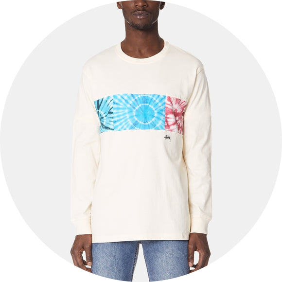 Tie Dye Block Long Sleeve Tee