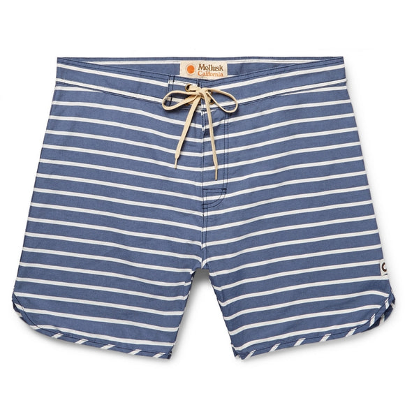Mid-Length Striped Cotton-Blend Swim Short
