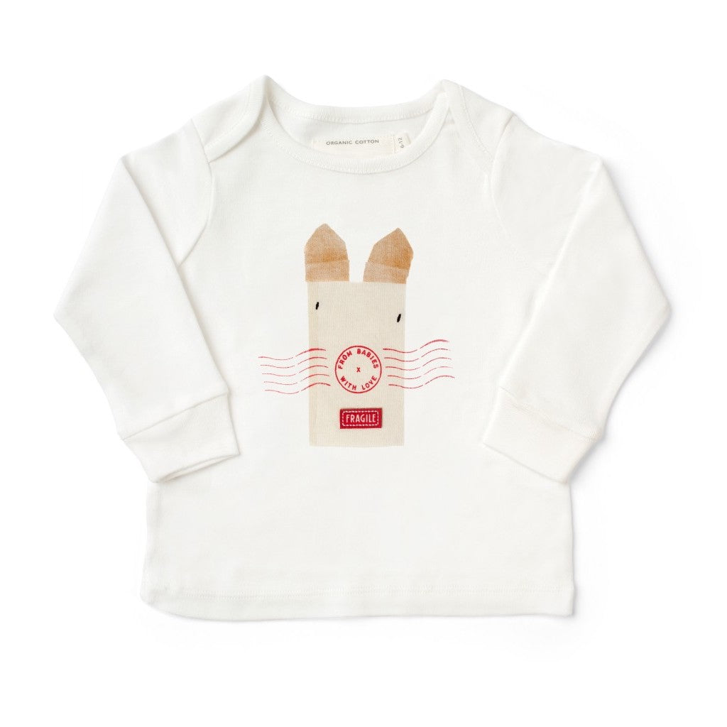 Rabbit T-Shirt Made From 100% Organic Cotton. Free Drawstring Gift Bag and Greetings Card with All Profits To Abandoned Children.