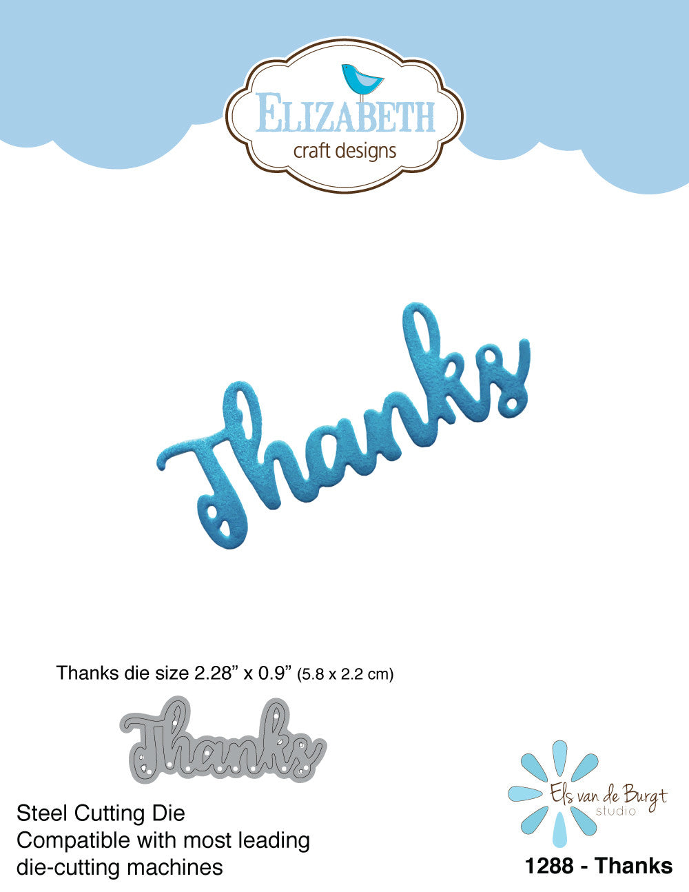 Thanks - Die - ElizabethCraftDesigns.com