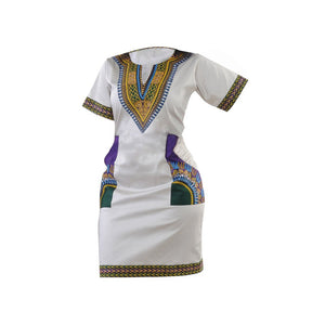 Whitegreen Dashiki Dress