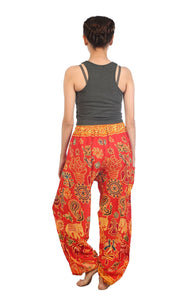 Elephants 2 Red Dashiki Pant