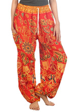 Load image into Gallery viewer, Elephants 2 Red Dashiki Pant