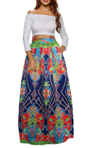 Pattern 10 African Printed Dashiki Skirt