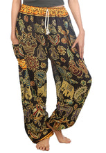 Load image into Gallery viewer, Elephants 2 Black Dashiki Pant