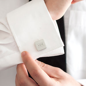 Initial Personalised Solid Square Cufflinks