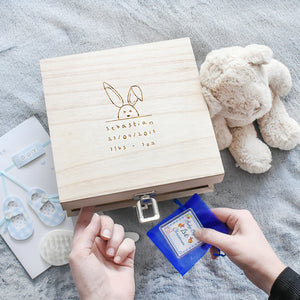 New Baby Name, Date And Weight Memory Box