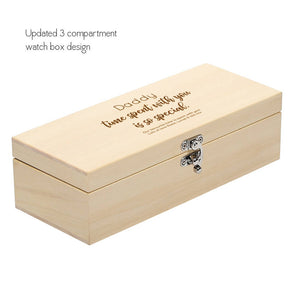 'Daddy's Time Is Special Time' Personalised Watch Box