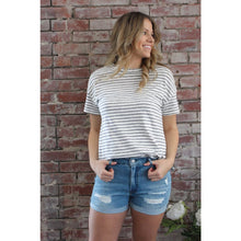 Load image into Gallery viewer, Jersey Striped Top - Top