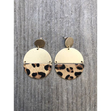 Load image into Gallery viewer, Gold Leopard Earrings
